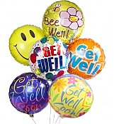 Balloons: Get Well Balloon Bouquet-6 Mylar