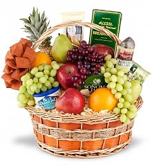Food & Fruit Baskets: Holiday Extravagance Fruit & Gourmet Basket
