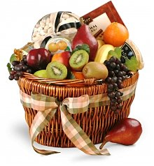 Fruit Gift Baskets: Holiday Abundance Gourmet Fruit Basket