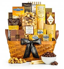 Gourmet Gift Baskets: Golden Memories Gift Basket