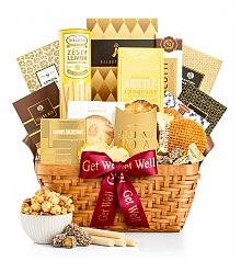 Gourmet Gift Baskets: Golden Get Well Gift Basket