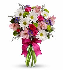 Flower Bouquets: Pink Wishes Bouquet