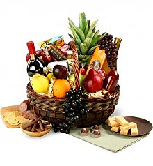 Wine & Fruit Baskets: Wine, Fruit & Gourmet