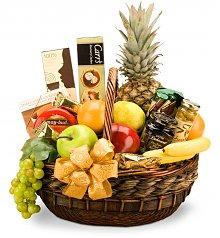 Food & Fruit Baskets: Holiday Abundance Fruit & Gourmet Basket